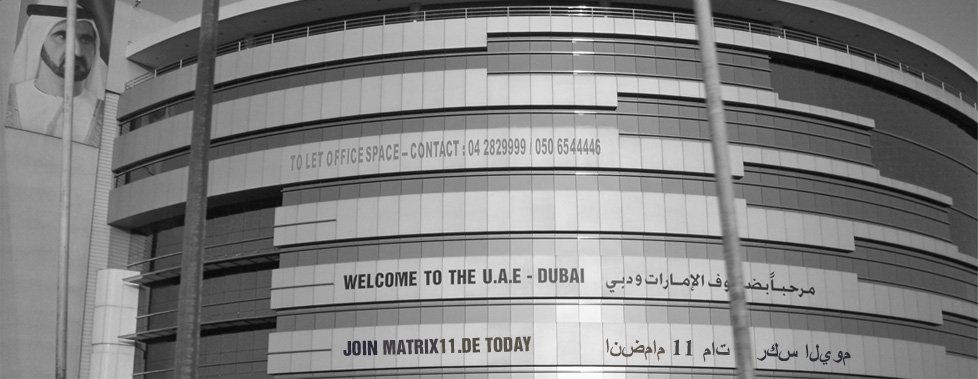 MATRIX11 Dubai Advertisment Werbung in Dubai U.A.E.